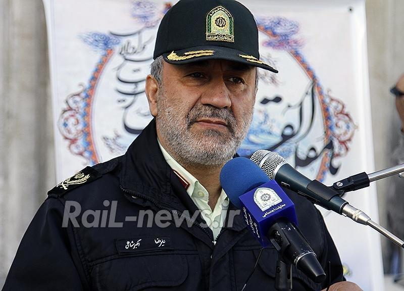فرمانده پلیس راه آهن : کشفیات مواد مخدر37 درصد افزایش یافت