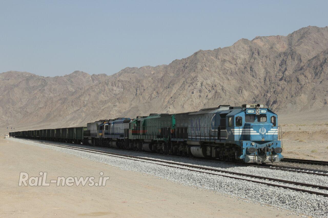 رکورد بارگیری در سطح شبکه ریلی در راه آهن یزد شکسته شد