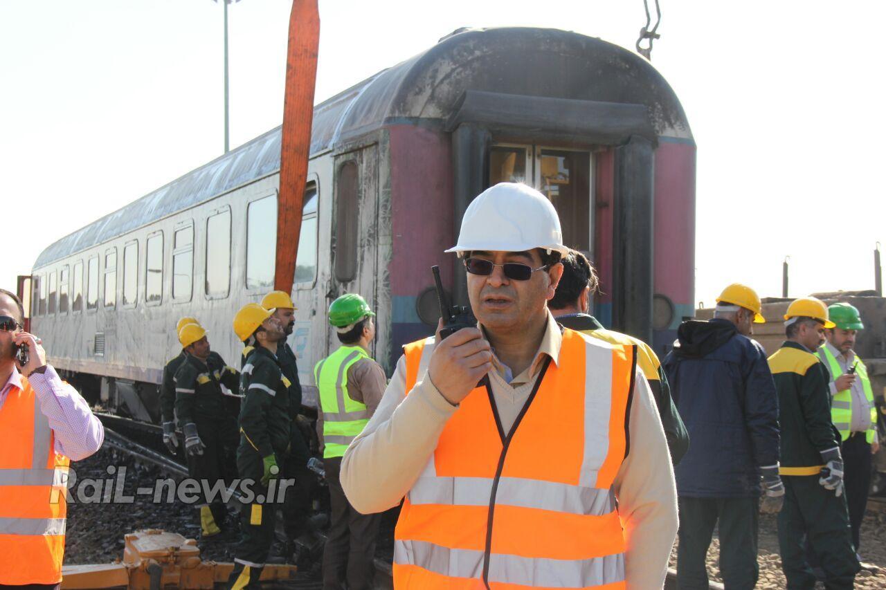 مانور امداد و نجات با حضور یگان های امدادی در راه آهن یزد