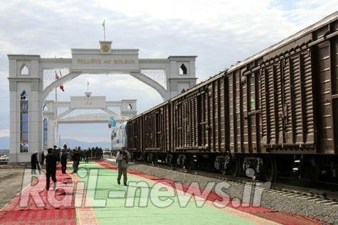 حرکت آزمایشی قطار کانتینری از چین به ایران