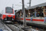 برخورد ۲ قطار مسافربري در اتریش با یک کشته
