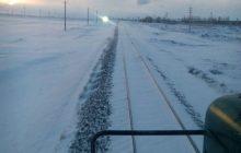 آمادهباش نیروها و ماشینآلات راهآهن در نقاط برفگیر