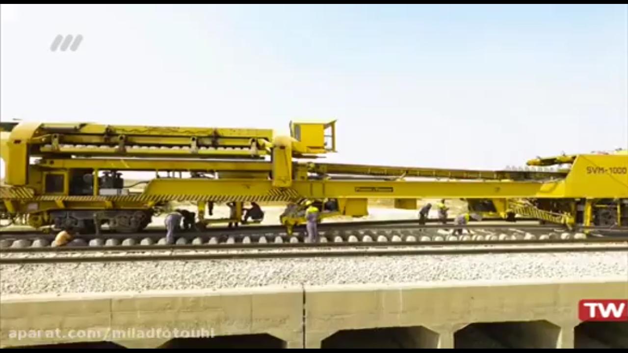 مستند راه آهن جنوب کشور و انواع روش های ریل گذاری