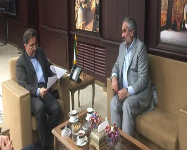 بررسى آخرین وضعیت راه آهن همدان_سنندج در دیدار استاندار با وزیر راه