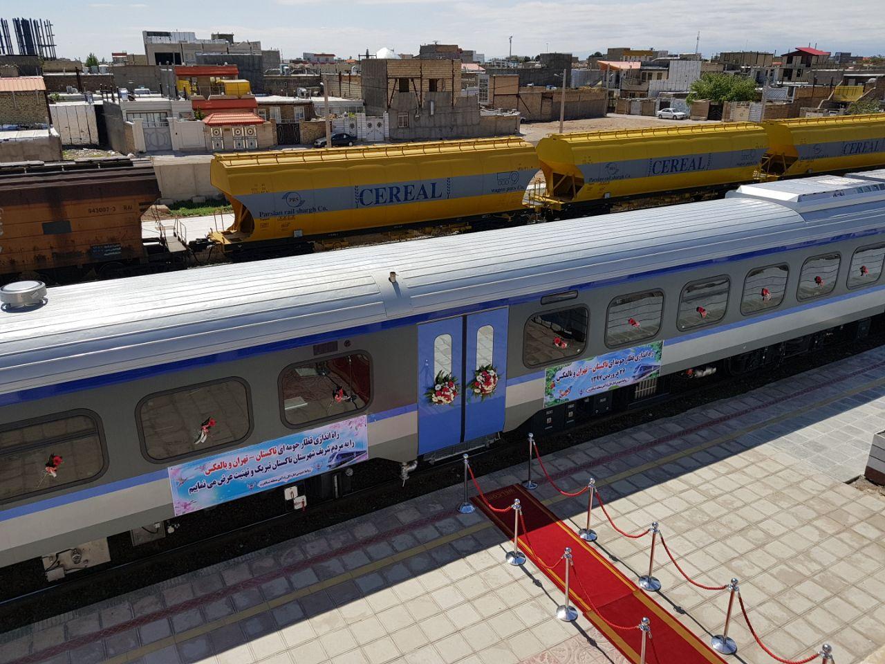 راه اندازی رسمی قطار ریل باس تاکستان _تهران و بالعکس