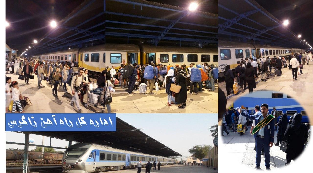 جابه جايى بیش از ٤٠٣ هزار نفر مسافر در سال ٩٦ توسط راه آهن زاگرس