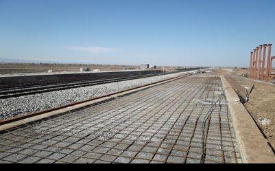 پیشرفت72 درصدی پروژه سکوها و زیرگذر وسایه بان های ایستگاه اسفراین