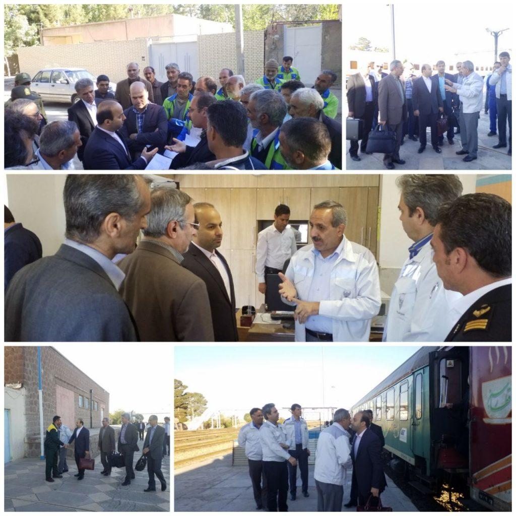 بازدید کمیسیون عالی فنی و گراف راه آهن ج.ا.ا از راه آهن خراسان