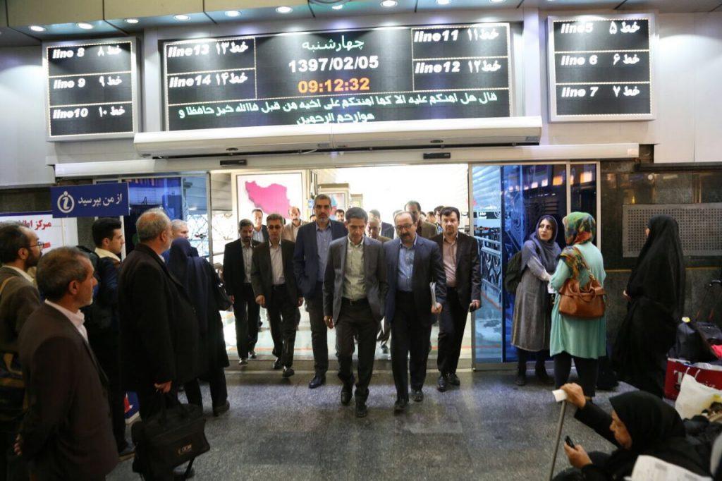 دیدار صمیمانه مدیرعامل راه آهن با پرسنل زحمتکش سایت راه آهن تهران