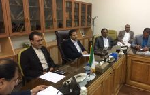 مهندس رسولی عضو هیئت مدیره راه آهن در جلسه استانداری سیستان و بلوچستان و با حضور مدیران چند ناحیه