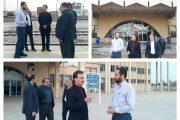 بازدید مهندس رسولی و مهندس موسوی از ایستگاه خرمشهر و قطعه اول پروژه اتصال خرمشهر به بندر امام خمينی (ره)