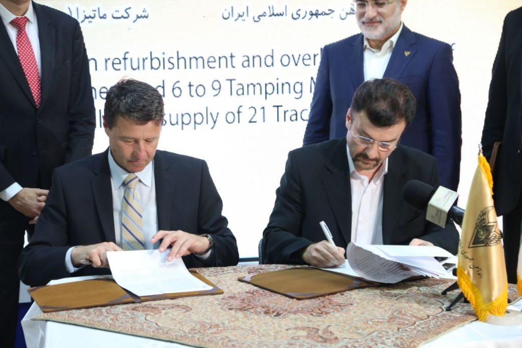 گزارش تصویری از مراسم امضای تفاهم نامه پروژه های بازسازی و تعمیر اساسی ماشین آلات خطی ماتیزا