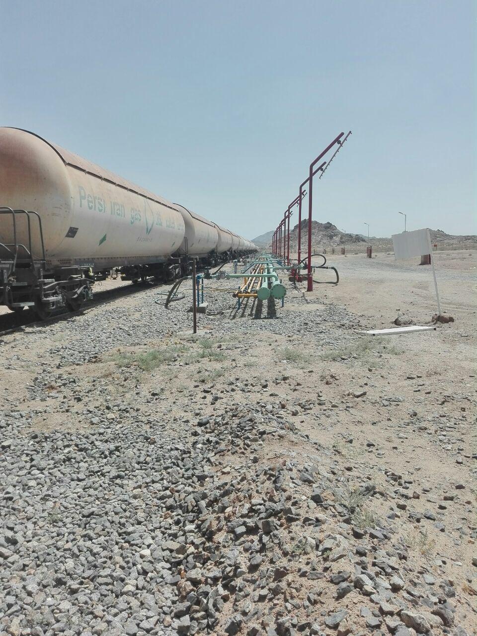 جایگزینی کامل حمل گاز مایع از حمل جادهای به حمل ریلی در استان سیستان و بلوچستان