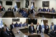 جلسه در خصوص ارسال حداکثری محصولات سایپا از طریق خطوط ریلی به انبارمنطقه ای ایستگاه راه اهن شیراز و توزیع در جنوب کشور