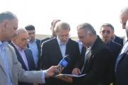 بازدید دکتر لاریجانی رئیس مجلس شورای اسلامی از پروژه ریلی گمرک قم