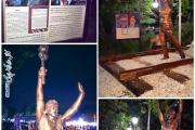 نصب تندیس مرحوم ریزعلی خواجوی، دهقان فداکار در پارک ملت