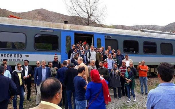 لذت سفرای اروپایی از دیدن زیبایی های راه آهن شمال