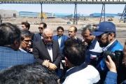 معاون حملونقل وزیر راه در راس هیاتی از طرح توسعه ریلی منطقه معدنی سنگان و پایانه مرزی دوغارون بازدید کرد
