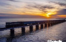 معرفی پل راه آهن پامبان (Pamban Bridge)هندوستان، عبور قطار از روی دریا + عکس های دیدنی +فیلم