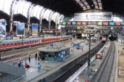 ایستگاه راه آهن هامبورگ از نمایی دیگر + ویدیو