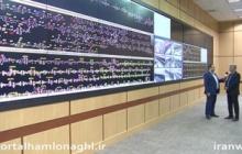 نمایی از واحد کنترل مرکزی شبکه ریلی کشور + فیلم