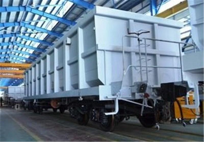 100 دستگاه واگن باری لبه بلند در اراک تولید شد