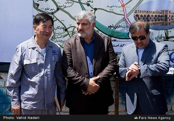 بازدید فرمانده قرارگاه خاتم سپاه از پروژه راه آهن سریع السیر تهران-اصفهان