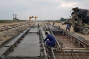 پروژه اسلب تراک خطوط ایستگاه راهآهن شاهرود افتتاح شد