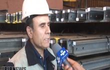 نخستین بار در کشور تولید انبوه ریل یو آی سی 60 در ذوب آهن اصفهان/ فیلم
