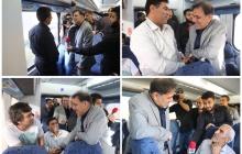 گزارش تصویری سفر وزیر راه و شهرسازی با قطار حومه ای تهران - پرند و بازدید از پروژه های شهر جدید پرند