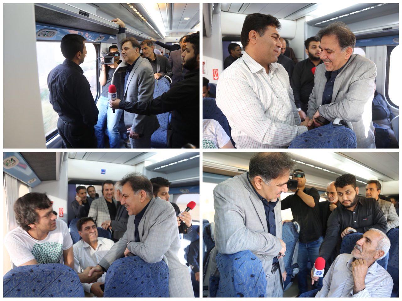 گزارش تصویری سفر وزیر راه و شهرسازی با قطار حومه ای تهران – پرند و بازدید از پروژه های شهر جدید پرند