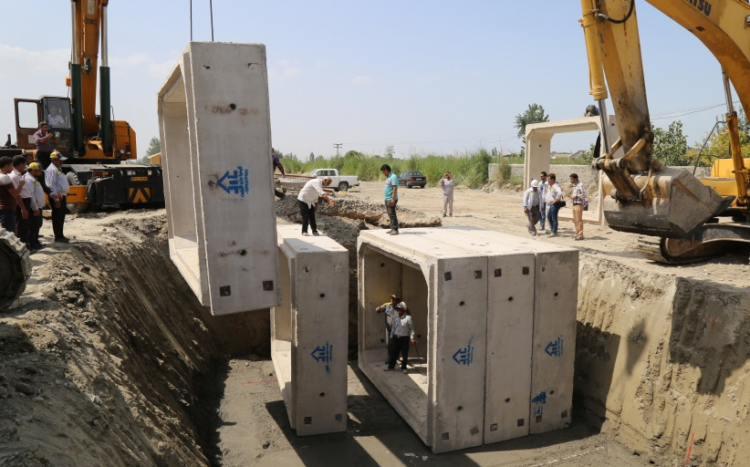 احداث زیرگذر در بندر گز راه آهن شمالشرق۲ / گزارش تصویری
