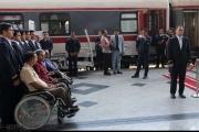 بهره مندی جانبازان قطع نخاعی از قطار با قابلیت تردد صندلی چرخدار