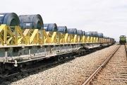 ۱۰۰ درصد بار شرکت فولاد خوزستان توسط ناوگان ریلی جابجا می شود