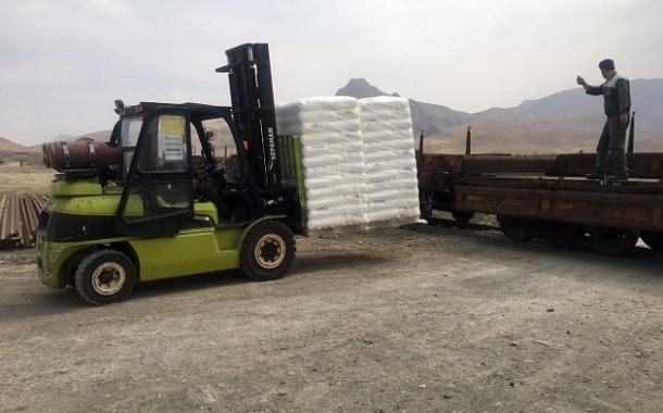 حمل اولین محموله پلیاتیلن توسط راهآهن از کرمانشاه