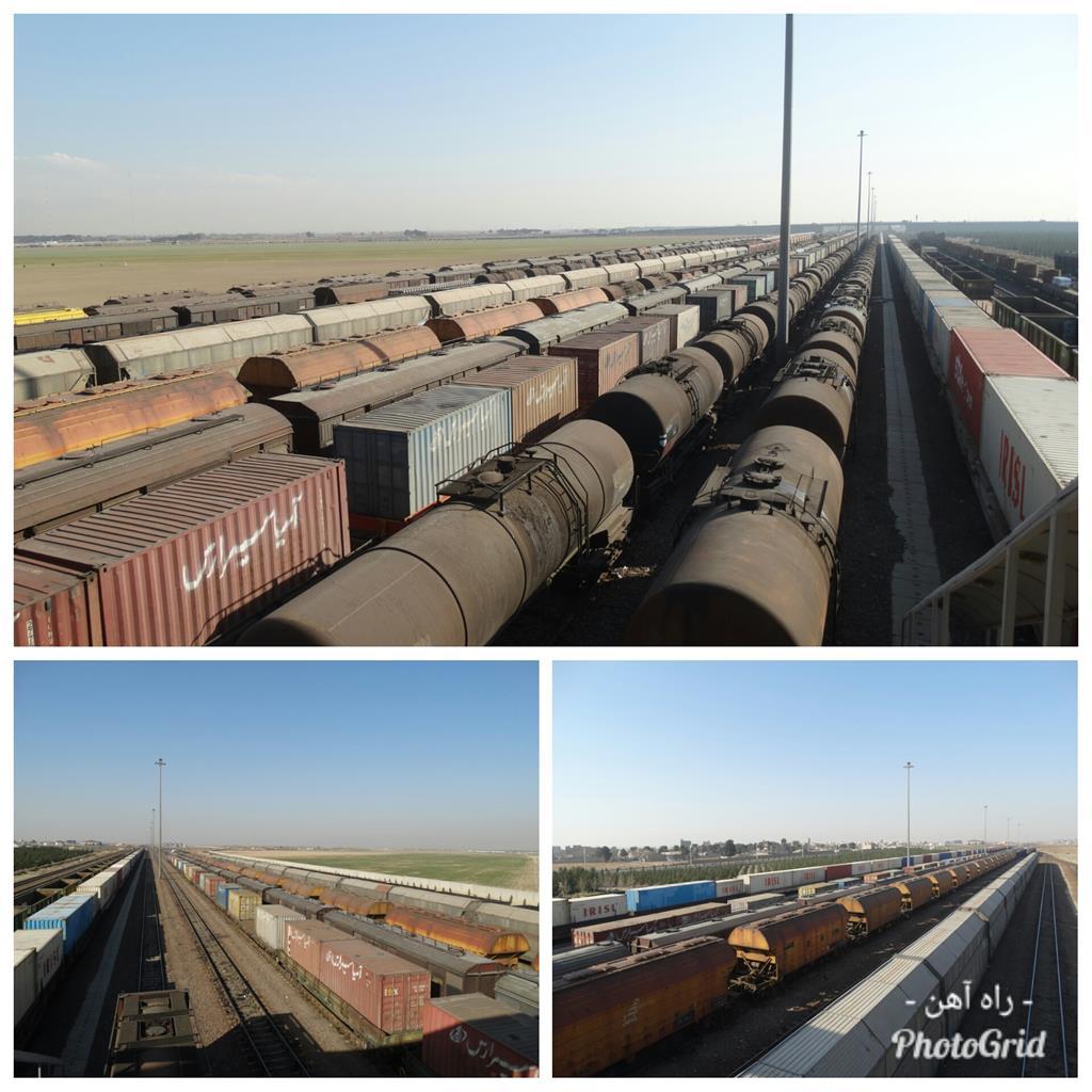 اداره کل راه آهن تهران موفق به بارگیری و تخلیه ۳۶۰ واگن انواع محمولات شد