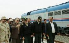 فرمانده نیروی انتظامی از نواحی مرزی و ایستگاه راهآهن اینچهبرون بازدید کرد + تصاویر
