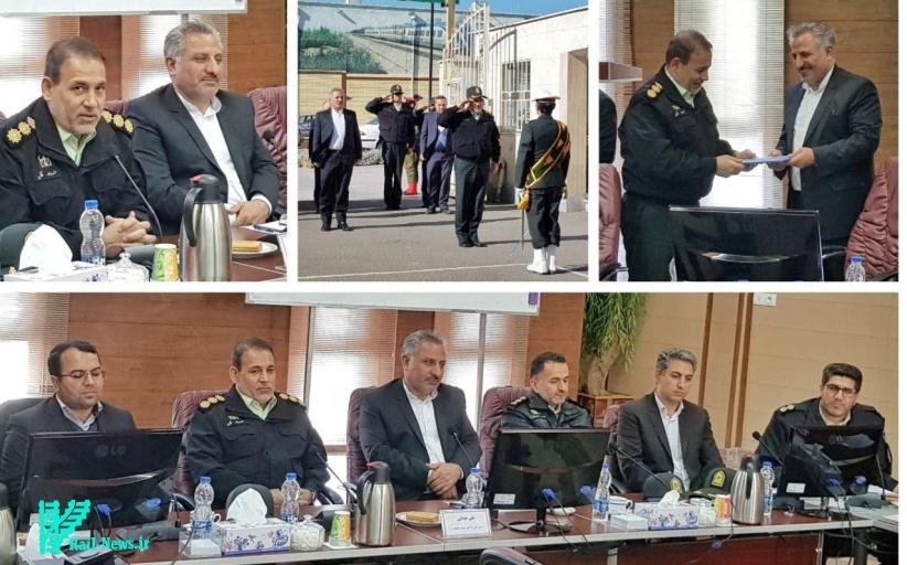 بازدید فرماندهی پلیس راه آهن کشور از یگانهای پلیس راه آهن شمالغرب
