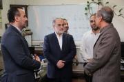 بازدید قائم مقام از اداره کل راهآهن تهران/ گزارش تصویری