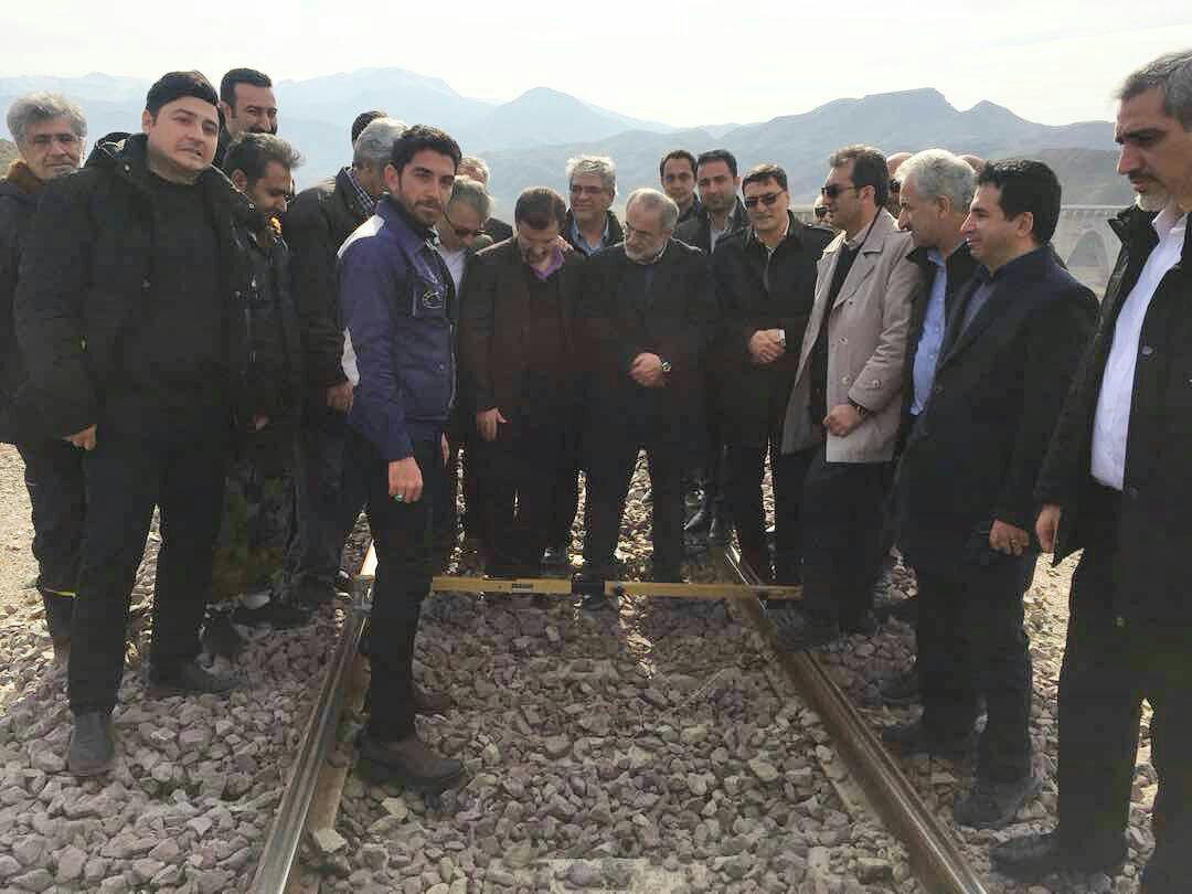 بازدید قائم مقام راه آهن ج.ا.ا از محور راه آهن قزوین – رشت