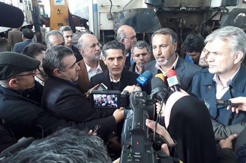 بازدید اعضای کمیسیون عمران مجلس از سایت راهآهن تهران