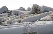 نشت نفت در پی خروج قطار از ریل در کانادا