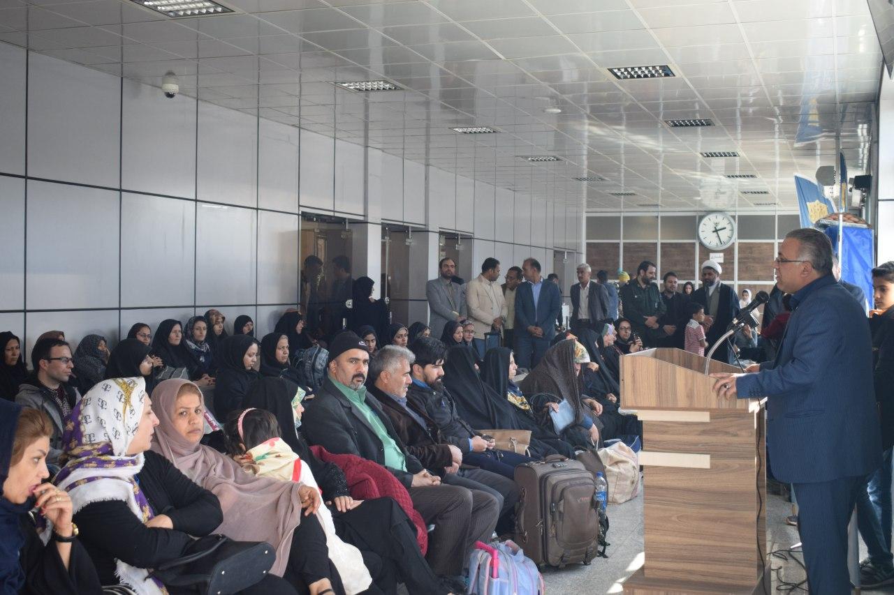 اعزام 150 نفر از کارکنان راه آهن قم به مناطق عملیاتی در قالب کاروان راهیان نور
