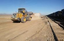 آغاز حمل ریلی «خاک نسوز» در راهآهن یزد