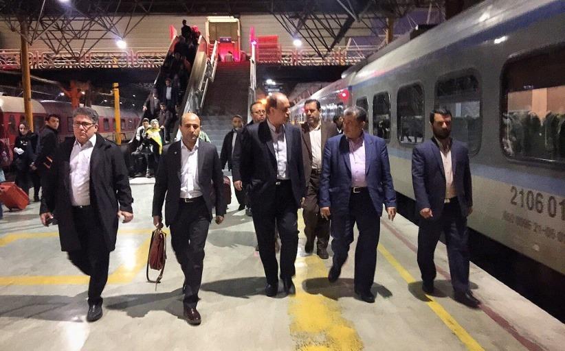 اولین قطار تهران- همدان میزبان نمایندگان مردم همدان در مجلس شورای اسلامی