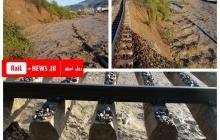 مسدودی محور شمال به علت طغیان رودخانه و رانش زمین
