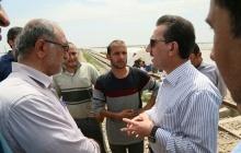 بازدید مدیرعامل راه آهن از مناطق سیل زده خوزستان