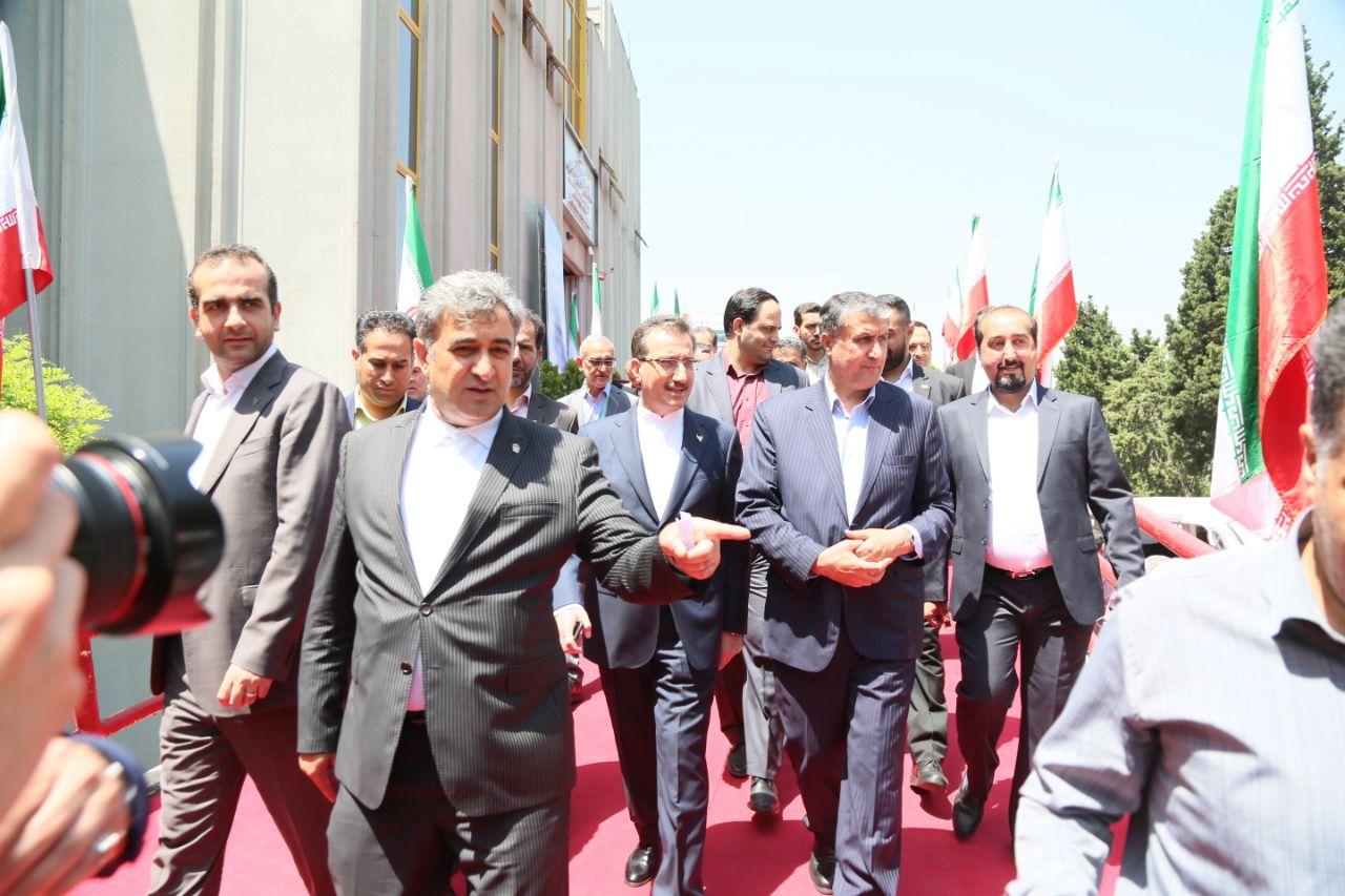 حضور محمد اسلامی، وزیر راه و شهرسازی در نمایشگاه بین المللی حمل و نقل ریلی، صنایع، تجهیزات و خدمات وابسته