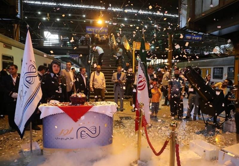 برگزاری جشن میلاد امام هشتم در قطار مسافری نور