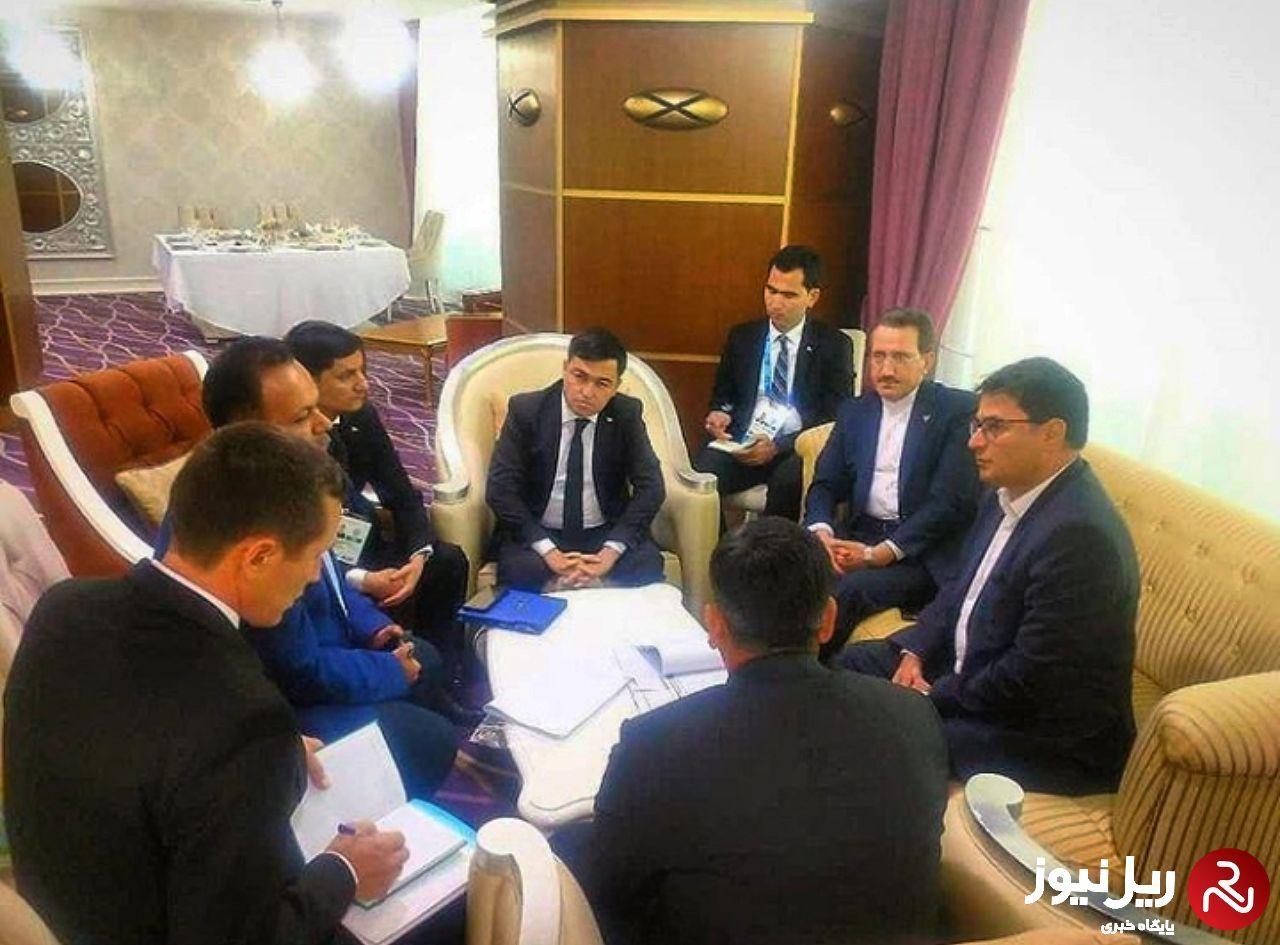 راه های توسعه همکاریهای ریلی باترکمنستان، قزاقستان وجمهوری آذربایجان بررسی شد